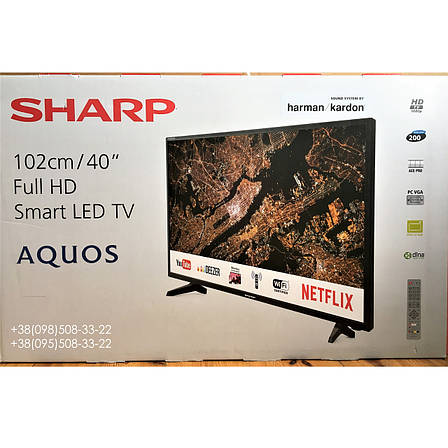 Телевизор Sharp LC-40FG5242E (Smart, Full HD, AM 200Гц, sound system by harman/kardon 2 x 10Вт, DVB-C/T2/S2), фото 2
