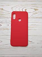 Силиконовый противоударный матовый чехол (задний бампер ) для смартфона Xiaomi Redmi 6 Plus Pro, красный