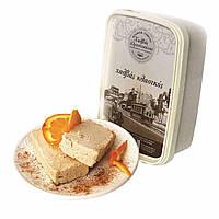 Греческая Халва кунжутная с Апельсином, Халва Тахинная, сезамовая халва 400 грамм