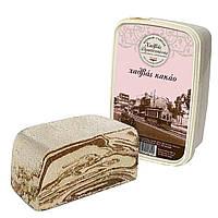 Греческая Халва кунжутная с какао, Халва Тахинная, сезамовая халва 400 грамм