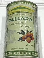 Оливки зелёные Крупные 70/90 2,5кг Греческие Оливки Крупные