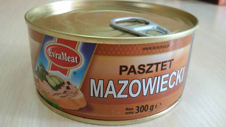 "Паштет ""Мазовецкий"" EvraMeat 300 гр"