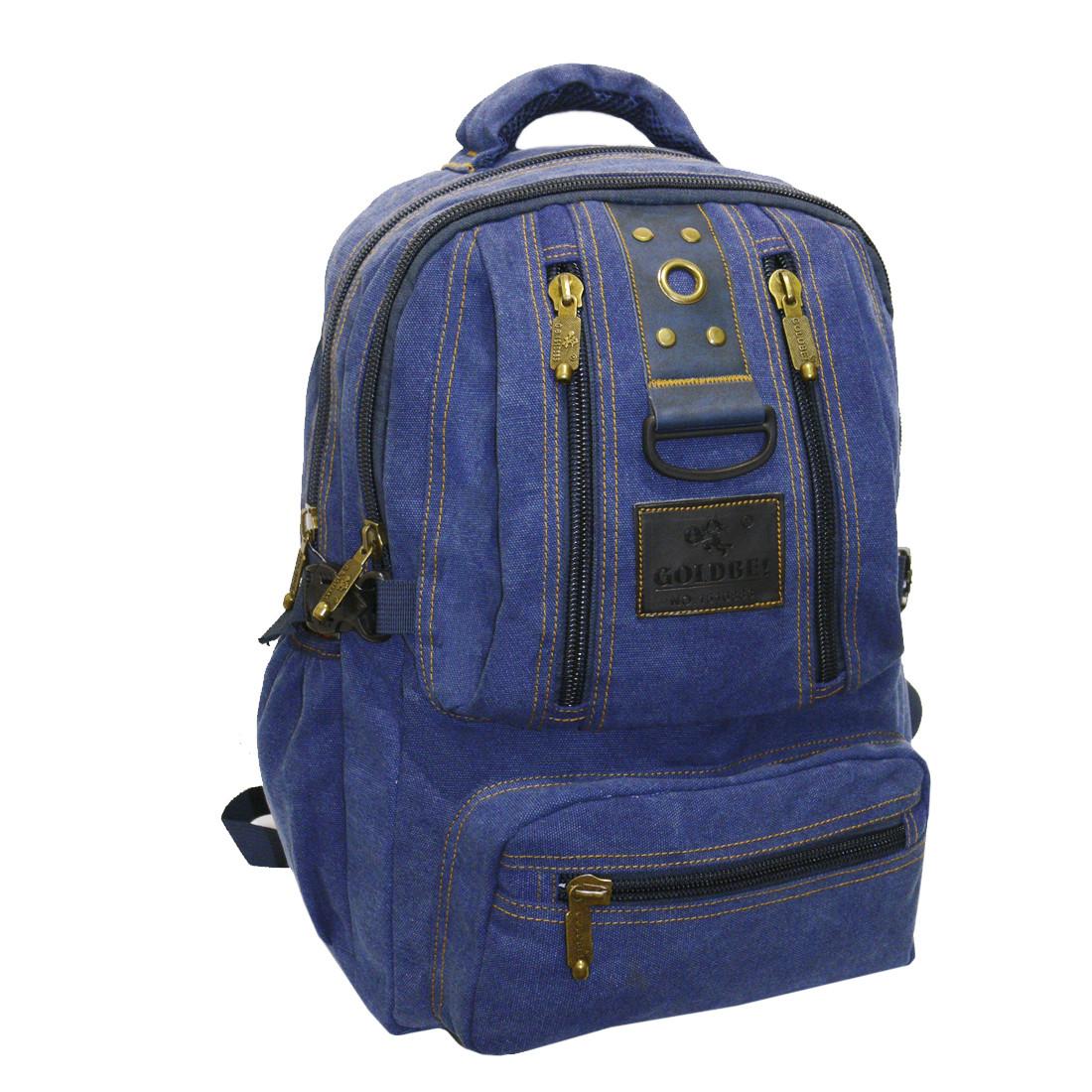 Рюкзак GOLDBE синий 30х43х16 брезент  кс1304синб