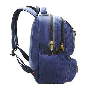 Рюкзак GOLDBE синий 30х43х16 брезент  кс1304синб , фото 2