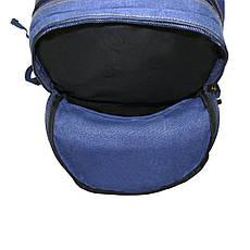 Рюкзак GOLDBE синий 30х43х16 брезент  кс1304синб , фото 3