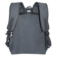 Рюкзак GOLDBE брезентовый 30х43х16 чёрный  кс1304чб , фото 3