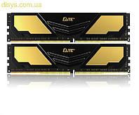 Модуль памяти DDR4 2x8GB/2400 Team Elite Plus Black (TPD416G2400HC16DC01)