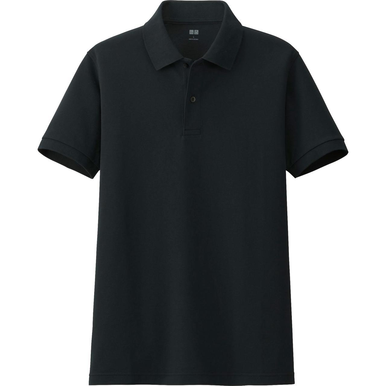 Футболка Uniqlo Men Polo Dry Pique BLACK