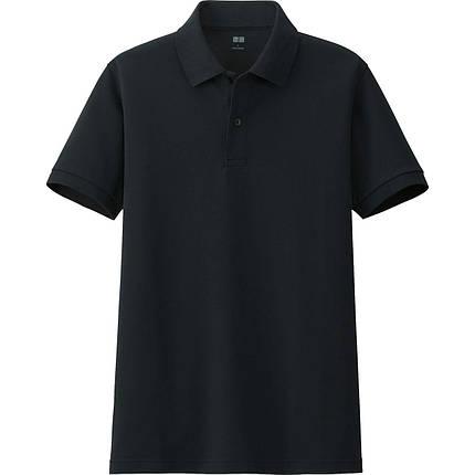 Футболка Uniqlo Men Polo Dry Pique BLACK, фото 2