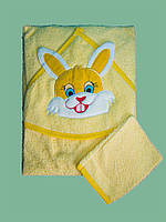 Детское полотенце для новорожденного Зайчик