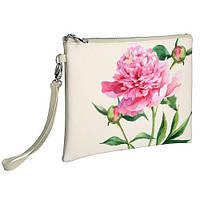 Женская сумка клатч белый Пион ML2_CLF007_SBR