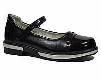 Туфли школьные для девочки р.33-38 ТМ ТОМ.М 3784В, черный