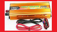 Преобразователь UKC 12V-220V 2000W Gold инвертор, фото 1