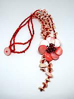 Ожерелье розовый перламутр