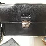 Мужская сумка барсетка 24 х 17 х 7 см черная городская искусственная кожа, фото 2