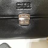 Мужская сумка барсетка 24 х 17 х 7 см черная городская искусственная кожа, фото 3