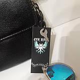 Мужская сумка барсетка 24 х 17 х 7 см черная городская искусственная кожа, фото 4