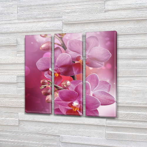 Картины триптих на холсте купить дешево, на Холсте син., 65x65 см, (65x20-3)
