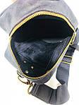 Мужская стильная сумка VS005  Crazy horse brown 26х16х8 см, фото 2