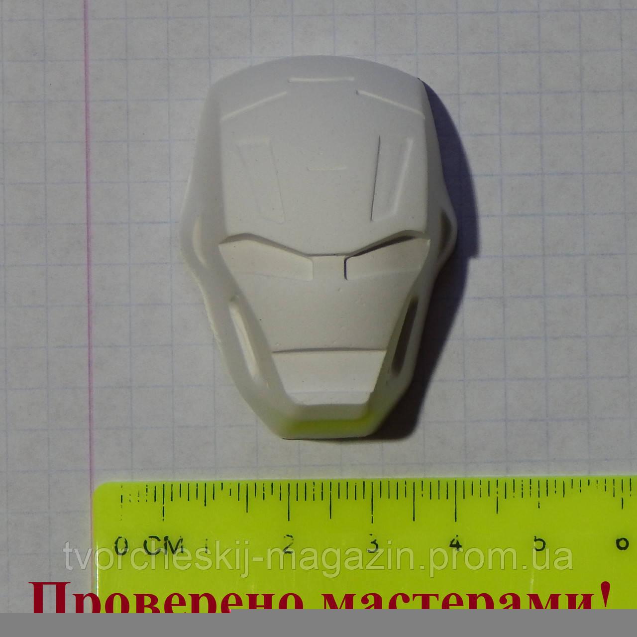 Фигурка из гипса маска Железного Человека. Гипсовая фигурка для раскрашивания