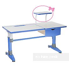 Парта-трансформер для школьника FunDesk Ballare Blue с выдвижным ящиком