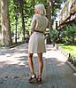 Платье-рубашка с поясом из коттона однотонное., фото 3