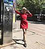 Платье-рубашка с поясом из коттона однотонное., фото 5