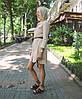 Платье-рубашка с поясом из коттона однотонное., фото 7