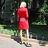Платье-рубашка с поясом из коттона однотонное., фото 9