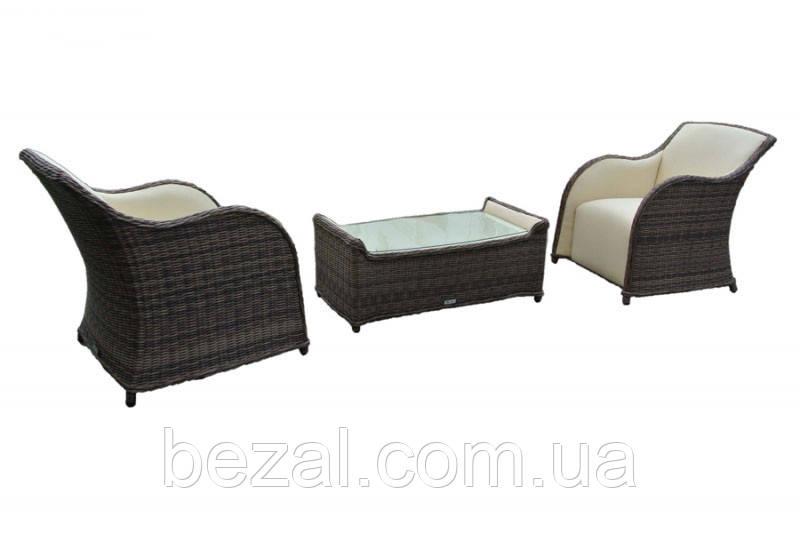 Комплект плетеной мебели Марине (2 кресла и журнальный столик)