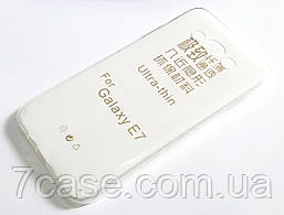 Чехол для Samsung Galaxy E7 E700H силиконовый ультратонкий прозрачный
