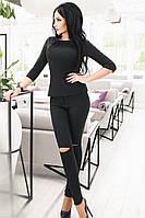 (S, M) Модні чорні стрейчеві джинси з прорізами Nikki
