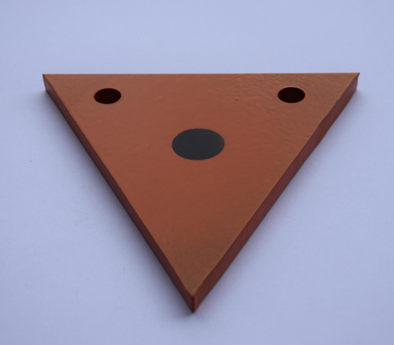 Гонг мишень 150х150 треугольник Сателит (606)