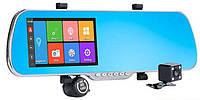 "Сенсорное зеркало-регистратор Android DVR X5 заднего вида 5"" с видеорегистратором,2 камеры,GPS,WiFI,Антирадар!, фото 1"