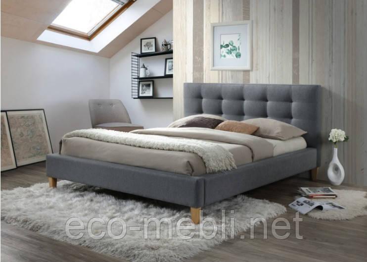 Півтораспальне ліжко з мякою оббивкою Texas 140 Signal