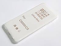 Чехол для Samsung Galaxy C5 C5000 силиконовый ультратонкий прозрачный