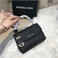 Женская сумка, клатч, Майкл Корс Ава, 18 см, кожаная, цвет черный