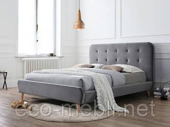 Двоспальне ліжко з мякою оббивкою Tiffany Velvet 160 Signal
