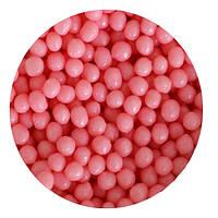 """Посипка """"Рисові кульки (полуничні) 3-4мм."""", 50 гр."""