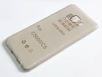 Чохол для Samsung Galaxy C5 C5000 силіконовий ультратонкий прозорий сірий