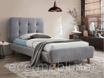 Односпальне ліжко з мякою оббивкою Tiffany 90 szary Signal