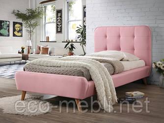 Односпальне ліжко з мякою оббивкою Tiffany 90 różowy Signal