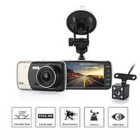 """Автомобильный Видеорегистратор DVR T652 4"""" Full HD на 2 камеры!, фото 1"""