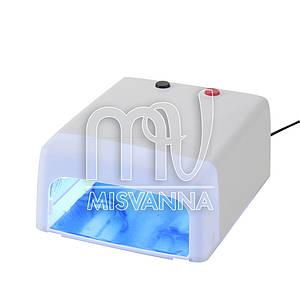 УФ лампа 818 Mini Lilly Beaute на 36 Вт с таймером 120с. для сушки геля и гель-лака (white)