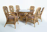 Обеденный комплект Ацтека (стол +6 кресел) , фото 1