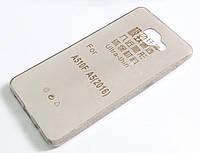 Чехол для Samsung Galaxy A5 510 (2016) силиконовый ультратонкий прозрачный серый