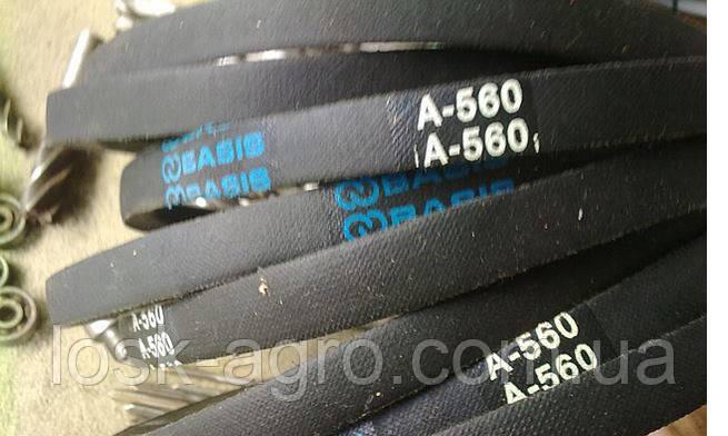Клиновый приводной ремень А-560
