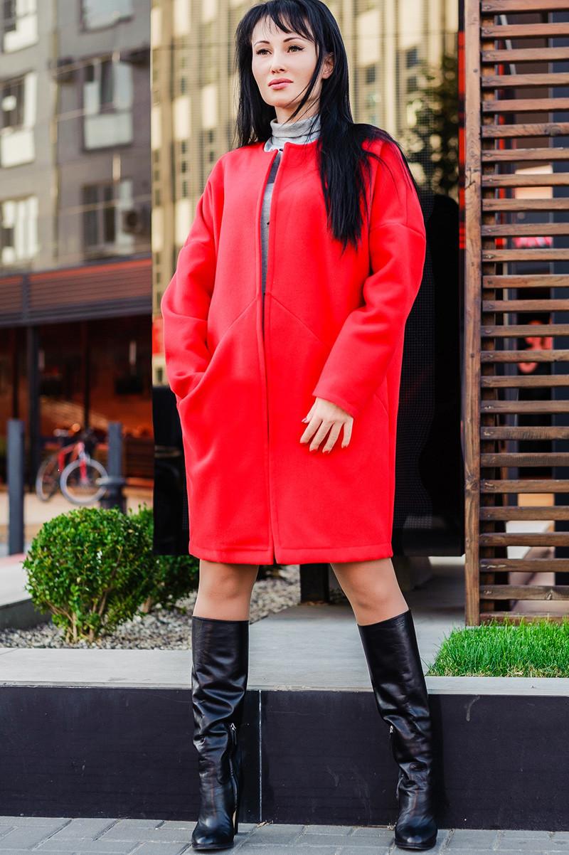 Красное женское пальто  *МАРГАРИТА*