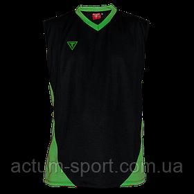 Волейбольная майка Triumph Titar черно/зелен