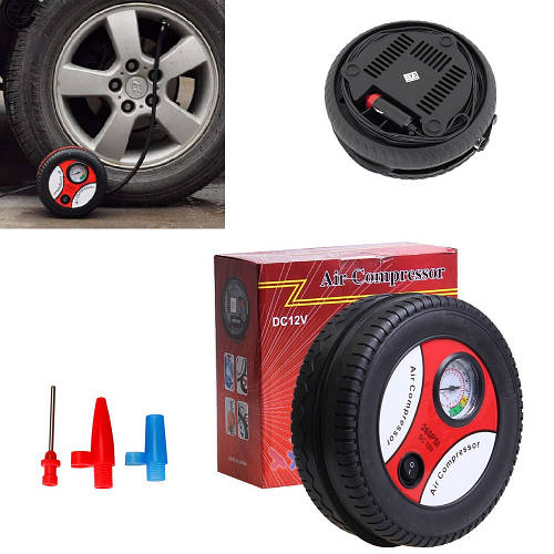 Автомобильный компрессор для шин от прикуривателя с манометром